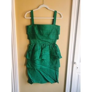 Oscar de la Renta green dress